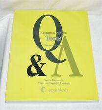 Questions and Answers : Torts: Mulltiple Choice, Short Ansers, Essay Issu... LN