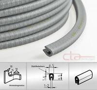 1 m Kantenschutz Kantenschutzprofil Dichtprofil KB 1- 2 mm PVC silber 1C10-04-02