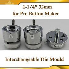 "Diy Pro 32mm 1-1/4"" Interchangeable Die Mould for Pro N3 N4 Badge Button Maker"
