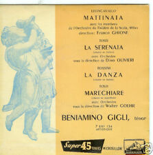 EP 4 TITRES--GIGLI BENIAMINO--LA DANZA / MATTINATA