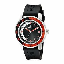 Invicta Men's 12845 Specialty Black Dial Watch with Red/Black Bezel