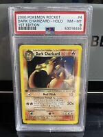 2000 Pokemon Team Rocket Dark Charizard Holo #4 1st Edition PSA 8 MINT - RARE