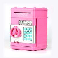 Money Safe Saving Box Cash Coin Piggy Bank Can Mini ATM Kids Toy Girls Gift Pink
