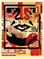 SHEPARD FAIREY OBEY FACE SIGNED OFFSET LITHOGRAPH