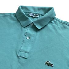 Vintage LACOSTE Polo Shirt | Size 3 | Small S | Turquoise Green Short Sleeve