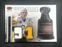 2013-14 CROWN ROYALE PAUL COFFEY SILVER CHALICE GAME-WORN JERSEY #SI-PC