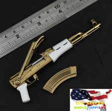 "1/6 scale AK47 Golden Gun for Gang boss JOKER hot toys Phicen 12"" figure ❶USA❶"