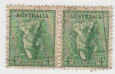 (JJ-943) 1937 AU 4d GREEN KOALA pair (BF)