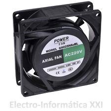 Lüfter Aluminium PowerFAN 80x80x25mm 220V + Gitter Inkubatoren