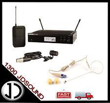 Shure BLX14R WL185 wireless lapel microphone system + BONUS slimline earset mic