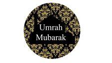 35 Umrah Mubarak Stickers Black Damask Congratulations Umrah Islamic Muslim 219