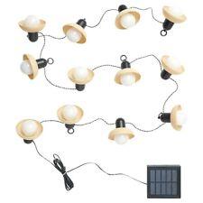 New ListingIkea Solvinden Led String 12 Lights Outdoor Solar Powered Mini Lantern Beige