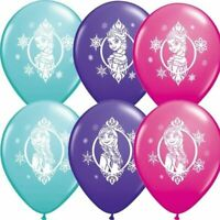 PK OF 6 FROZEN PARTY SUPPLIES BALLOONS BIRTHDAY ANNA ELSA