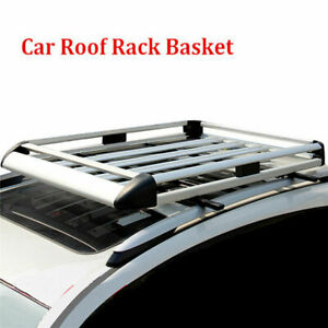 "50"" Aluminum Alloy Roof Rack Basket Car Top Cargo Luggage Carrier No Cross Bar"