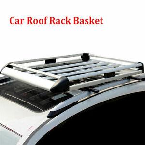 "50"" Aluminum Alloy Roof Rack Basket Car Top Cargo Luggage Carrier No Cross Bar"