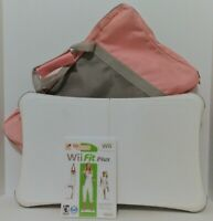 Wii Fit Plus Balance Board with Pink & Gray Case and Wii Fit Plus Game