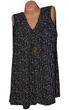 Italy Moda Tunika Shirt Top Bluse Überröße inkl Kette 44 46 48 50 52 (N°066)