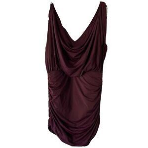 Victoria's Secret One Piece Purple Ruched Cowl Neck Swimsuit Size L