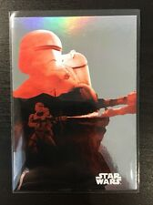 2015 Star Wars Journey To The Force Awakens Silhouette Foil 8 Flametrooper Topps
