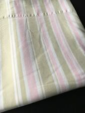 Simply Shabby Chic Twin Flat Sheet Pink Green Stripe