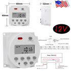 DC 12V Timer Switch Digital LCD Electronic Weekly Timer Mini Programmable Relay photo