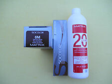 TWO 6M MATRIX SOCOLOR HAIRCOLOR PLUS ONE 16oz DEVELOPER NEW!