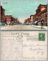 ERIE PA STATE STREET 1912 ANTIQUE POSTCARD