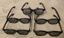 **5 PAIRS** Real-D 3D 3-D Polarized Movie Theater Theatre Glasses (USED) Sony