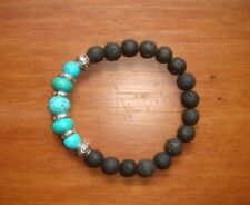 Lava Stone Diffuser Bracelet Turquoise ---- Use With doTERRA Essential Oils *-*