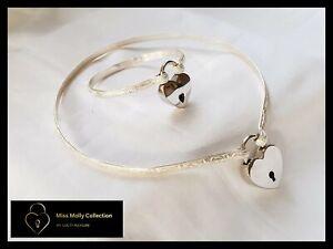 Locking BDSM Sterling Silver Day Collar & Cuff Combination