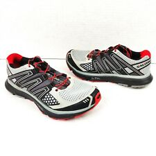 SALOMON XR MISSION 1 Men's Trail Running Hiking Shoes Size 7 Gray Red Black
