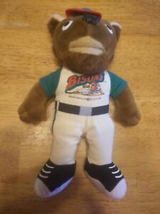 "10"" Buffalo Bison BUSTER Mascot Doll plush Vintage 1999"