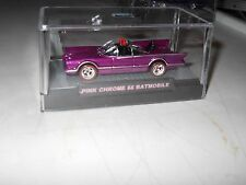 HOTWHEELS 2015 RALPHS CUSTOMS 66 TV  BATMOBILE PINK CHROME RIMS 1/10 REDLINES