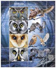 Polen Poland 2015 Bogen Polnische Vögel Eule sheet Polish birds owl