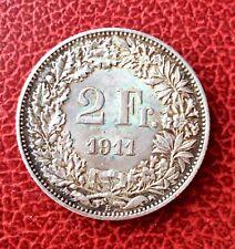 Suisse -  Rare et  Superbe monnaie de  2 Francs  - 1911