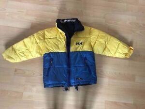 Helly Hansen Kids Wendejacke,Pufferjacket, blau gelb blau Größe 125