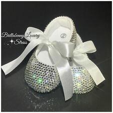 BALLERINA BABY SHOES NEONATA 3-6 MESI Scarpine Cristallo Crystal Luxury Stones