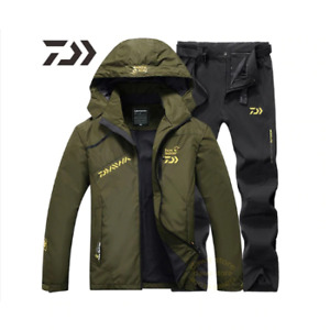 Fishing Suit Men Spring Autumn Thin Fishing Clothing Hooded Sports Hiking Fishin