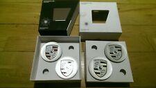 4 x OEM Porsche Tequipment Crested Wheel Centre Caps / 911 / Cayman / Boxster A