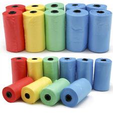 Pet Dog Puppy Cat Poo Poop Waste Disposable Clean Pick Up Plastic Bags Color Bag