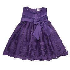 Newborn Baby Girl Tutu Dress First Birthday Skirt Clothes Party Formal Gown UK