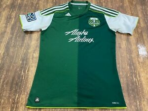 Portland Timbers Green/White Adidas MLS Soccer Jersey - Small