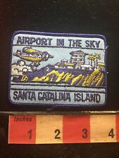 Vtg AIRPORT IN THE SKY SANTA CATALINA ISLAND California Patch 73RR