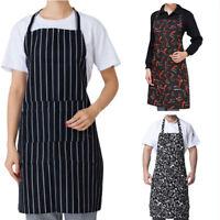 Unisex Women Men Apron Dress Kitchen Restaurant Chef Cooking BBQ Pocket Bib Gift