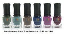 LeChat Dare to Wear Manicure Pedicure Nail Polish - RUSTIC TREAT - 6 bottles