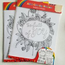 Adult Coloring Stickers 8 Sheets, 50+ Patterns - BRAND NEW - TWO (2) Packs II
