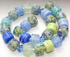"Sistersbeads ""I-Summer Breeze"" Handmade Lampwork Beads"
