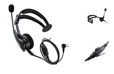 coodio Funkgeräte Ohrhörer 2 Pin Über-Ohr Security Headset