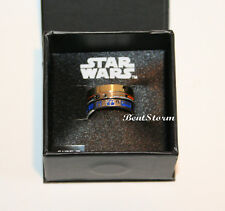 Star Wars Droids BB-8, C-3PO R2D2 3 Stackable Ring Jewelry Set Size 7 New in Box