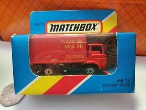1981 'Royal Mail'  Parcels Lorry MB 72 - Match Box 1-75
